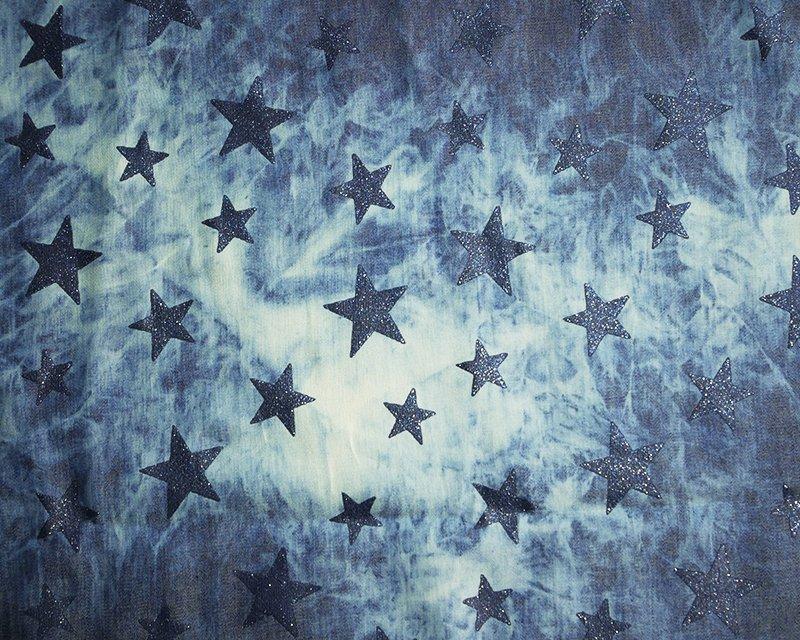 Glitter Star Chambre Denim
