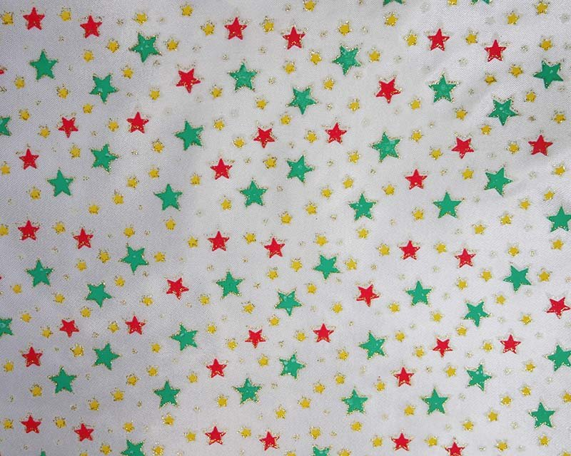 Small Glitter Star Satin