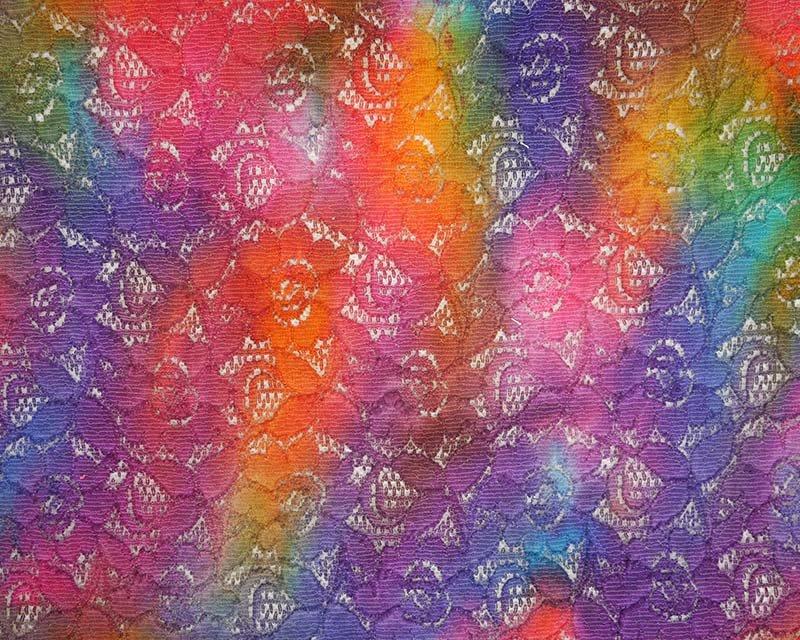Tie Dye Batik Lace