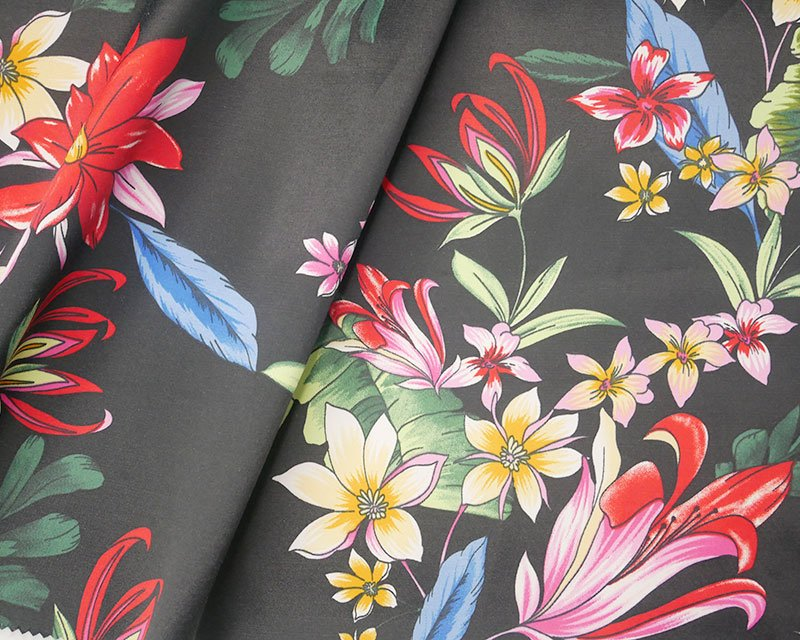 Flower Drawing Sateen
