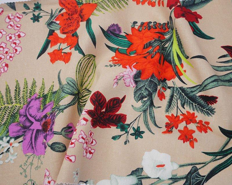 Multi Flower Linen Mix