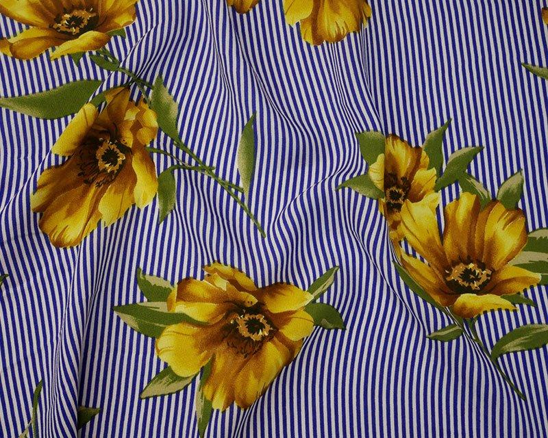 Stripe Flower Viscose