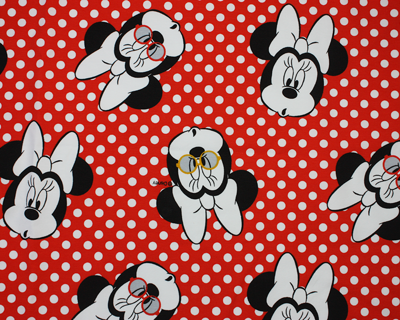 Disney Minnie Mouse Spotty Cotton Jersey
