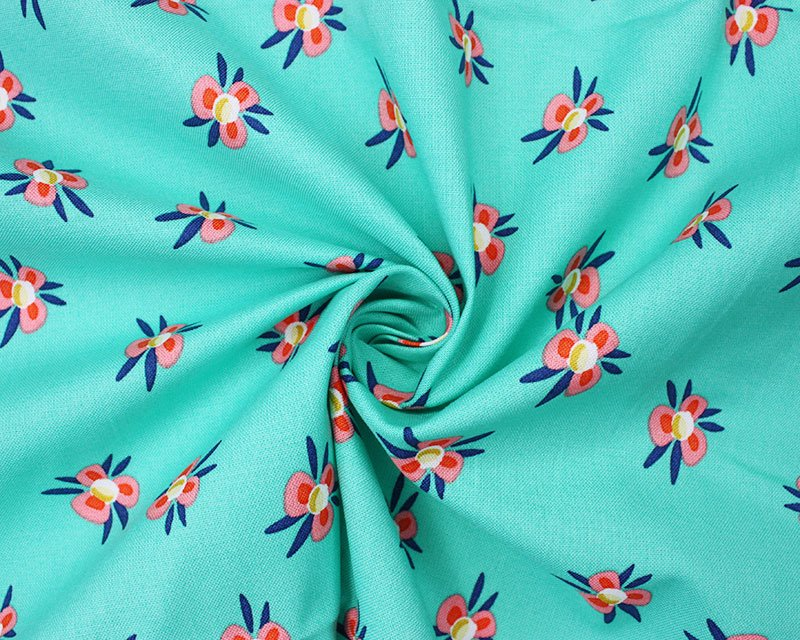 Turq Floral Cotton