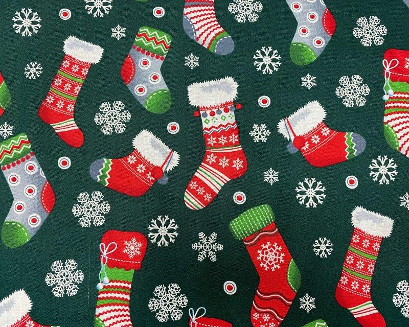 Snowflake Xmas Stocking Cotton