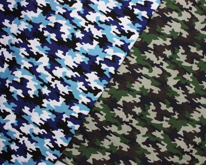 Camouflage Cotton Poplin
