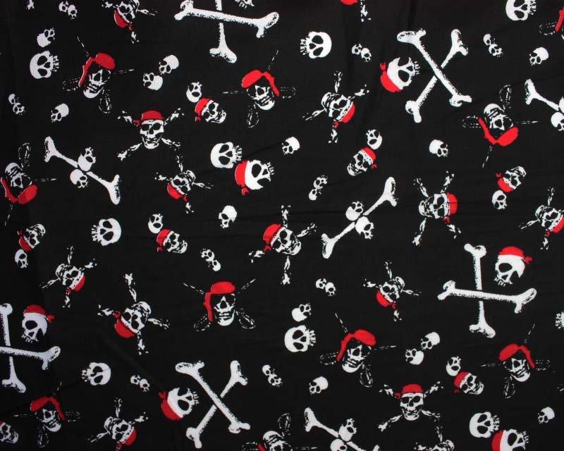 Pirate Skull and Cross Bone Cotton