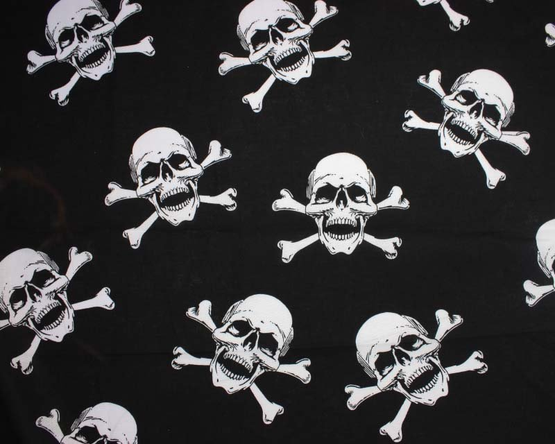 Skull and Cross Bone Cotton