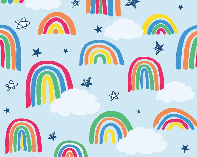 MP Rainbow Drawing Polycotton