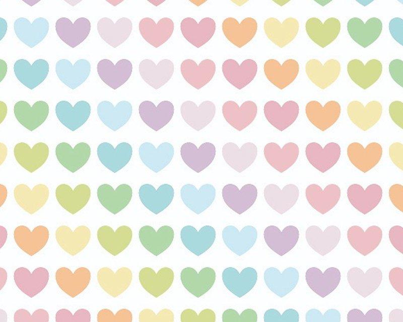 MP Rainbow Hearts Polycotton