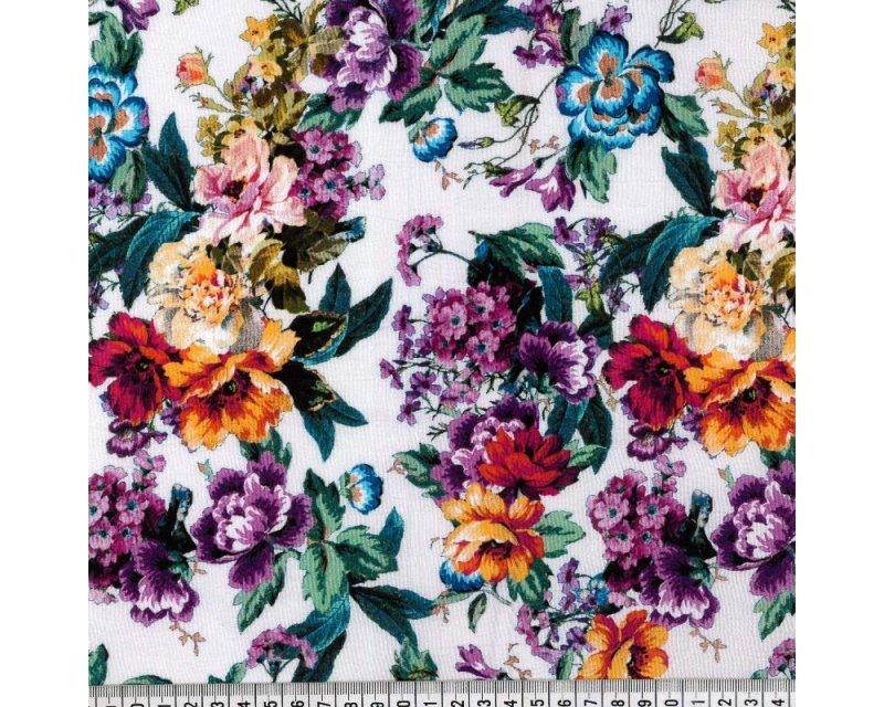 Floral Crinkle Viscose