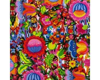 Vibrant Floral Poplin