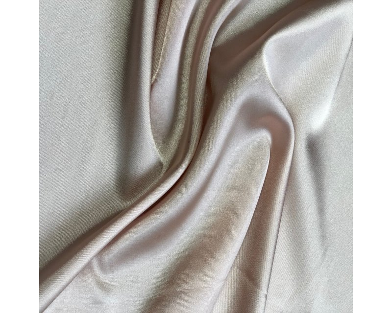 Peach Stretch Satin