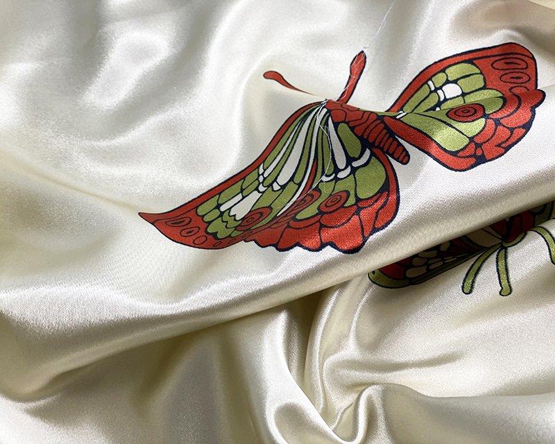Large Butterflies Satin