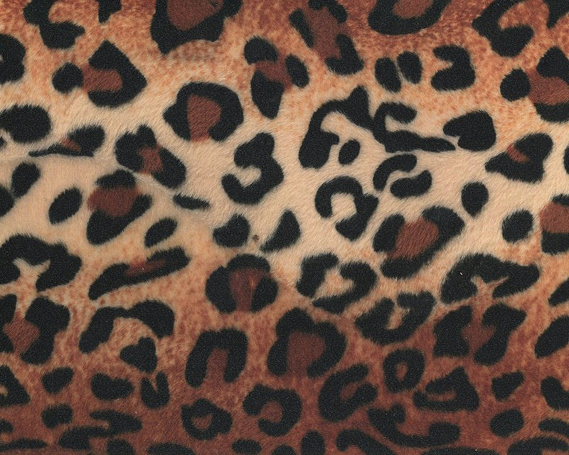 Brown Leopard Print Velboa