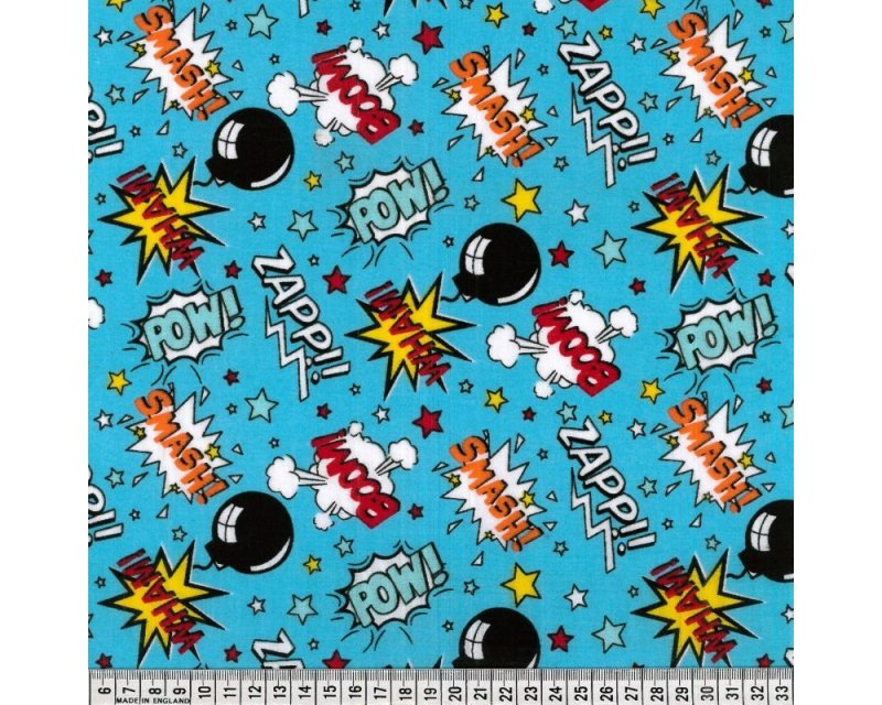 Little Johnny Boom Pow Wow Polycotton