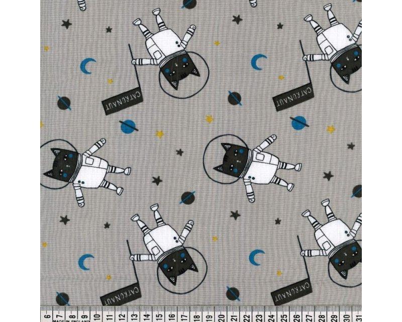 Spaceship Cats Cotton