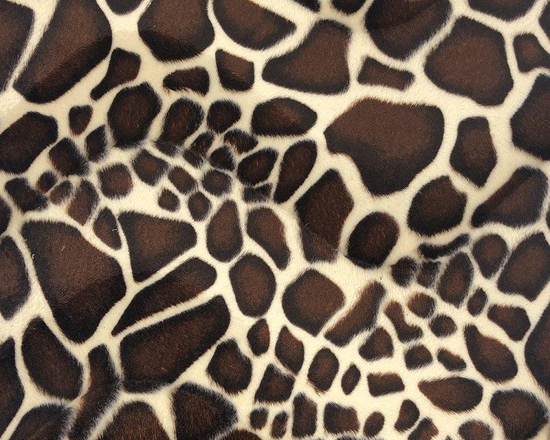 Baby Giraffe Print Velboa
