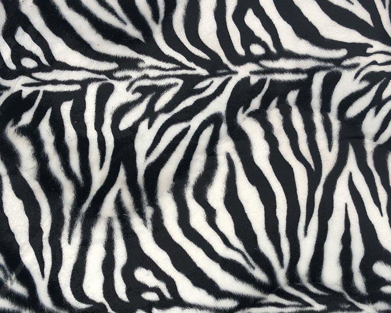 Zebra Print Velboa