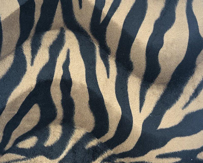 Brown Zebra Print Velboa