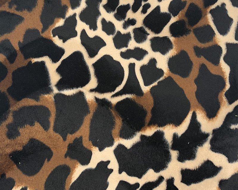 Giraffe Print Velboa