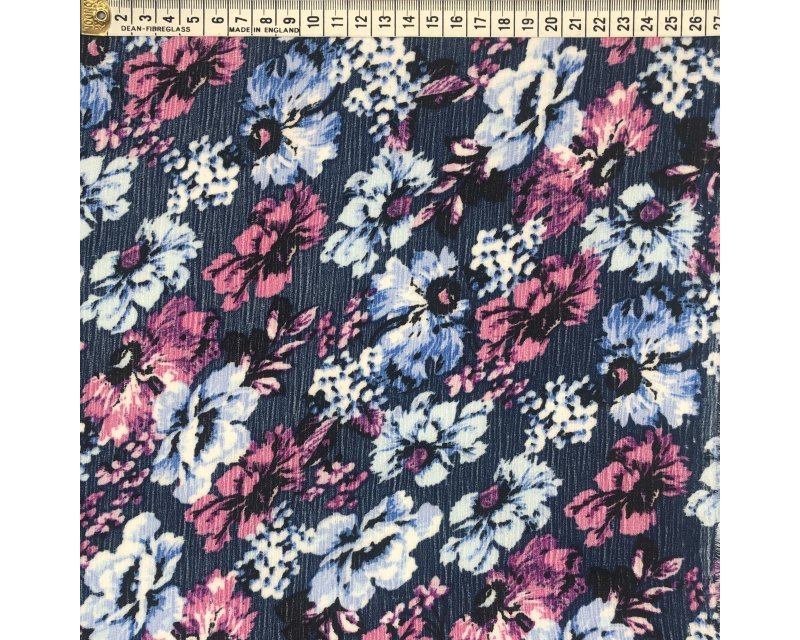 Floral Crinkle Georgette