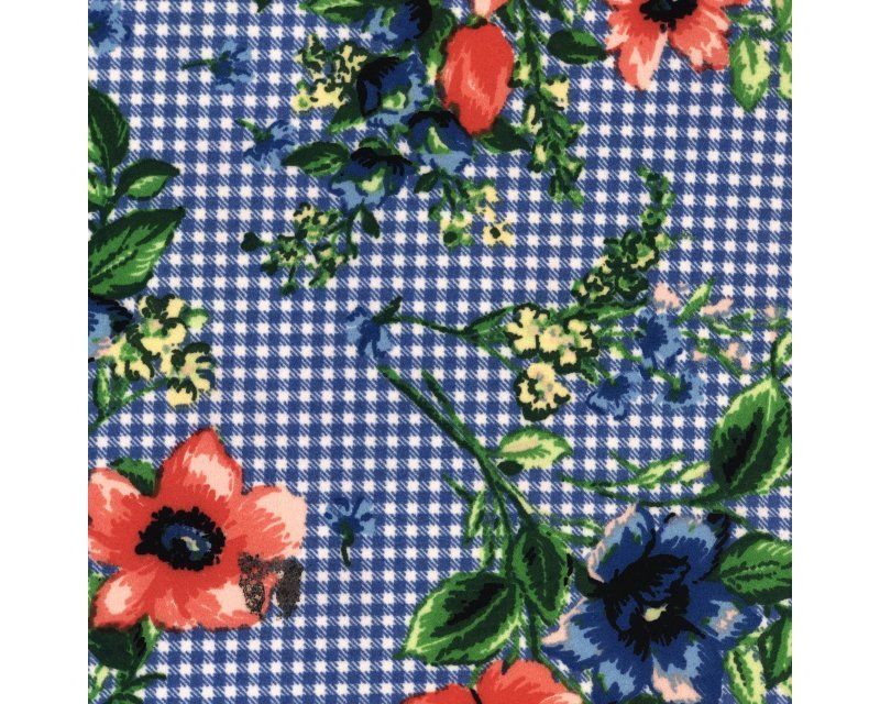 Floral Gingham Georgette