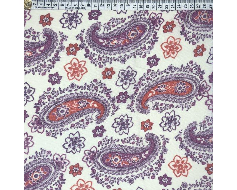 Floral Paisley Crinkle Georgette