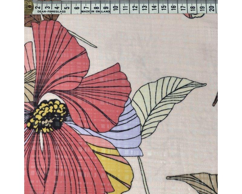 Large Flower Burnout Chiffon