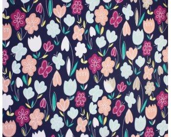Sally Polycotton Arty Flowers