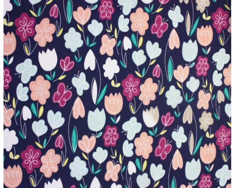 Sally Polycotton Arty Flowers
