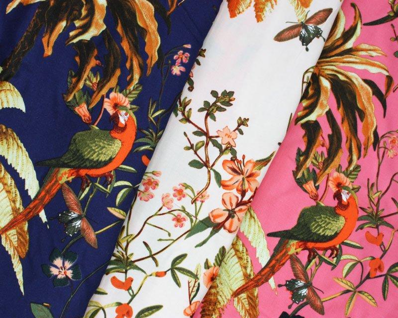 Tropical Parrot Viscose