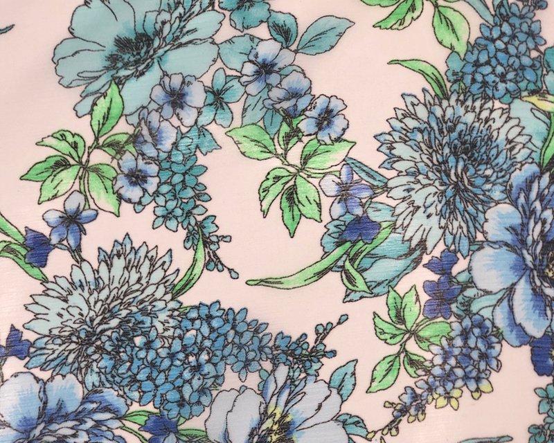Floral Crinkle Chiffon