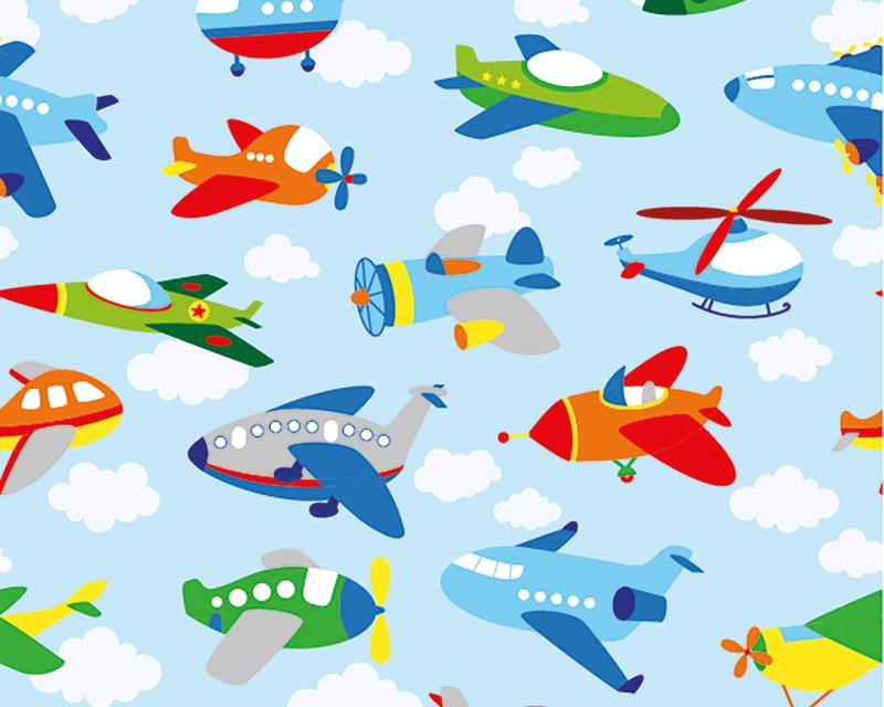 Airplane Cotton Jersey