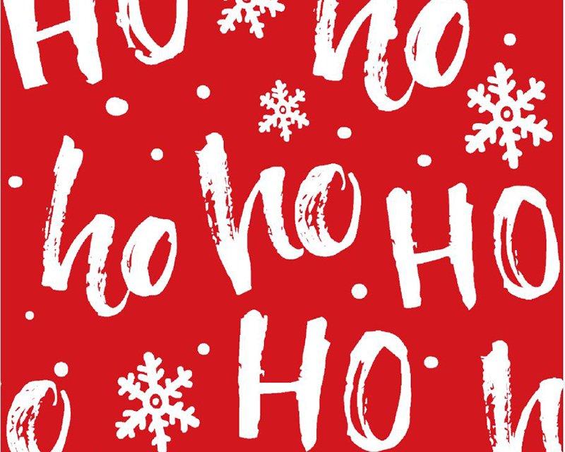 Ho Ho Ho Xmas Cotton Jersey