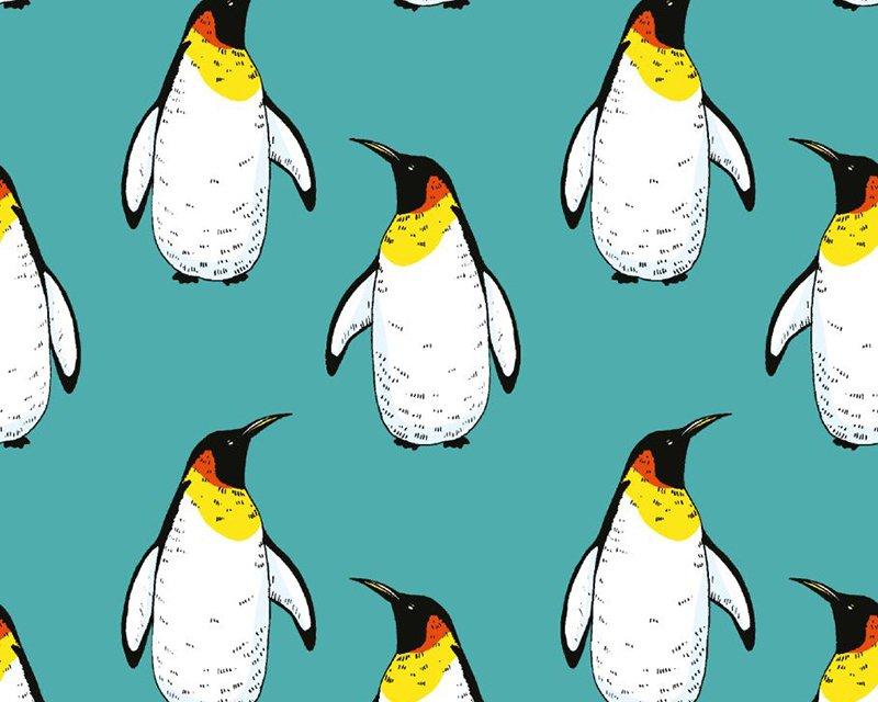 Penguin Xmas Cotton Jersey