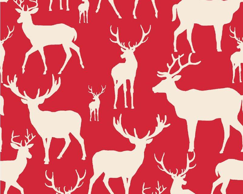 Reindeer Xmas Cotton Jersey