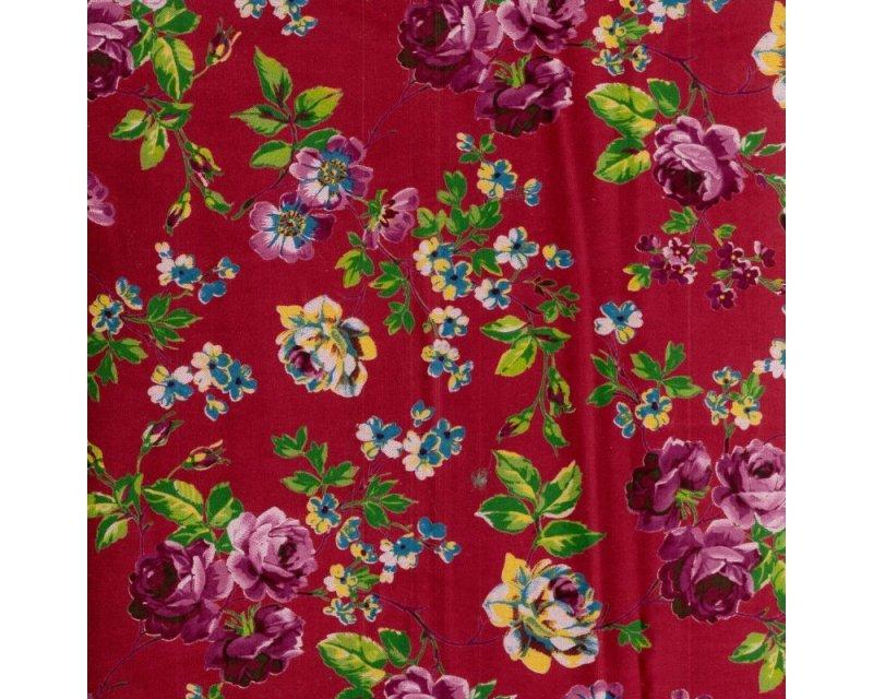 Floral Cotton Velvet