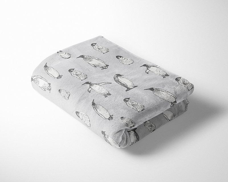 Penguins Cuddle Fleece