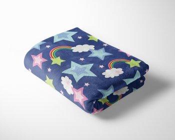 Rainbow Stars Cuddle Fleece