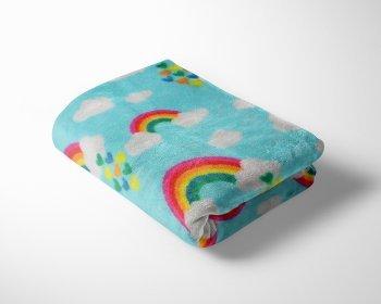 Rainbow Clouds Cuddle Fleece