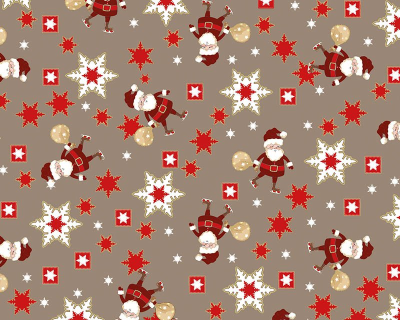 Christmas Santa Snowflake Cotton