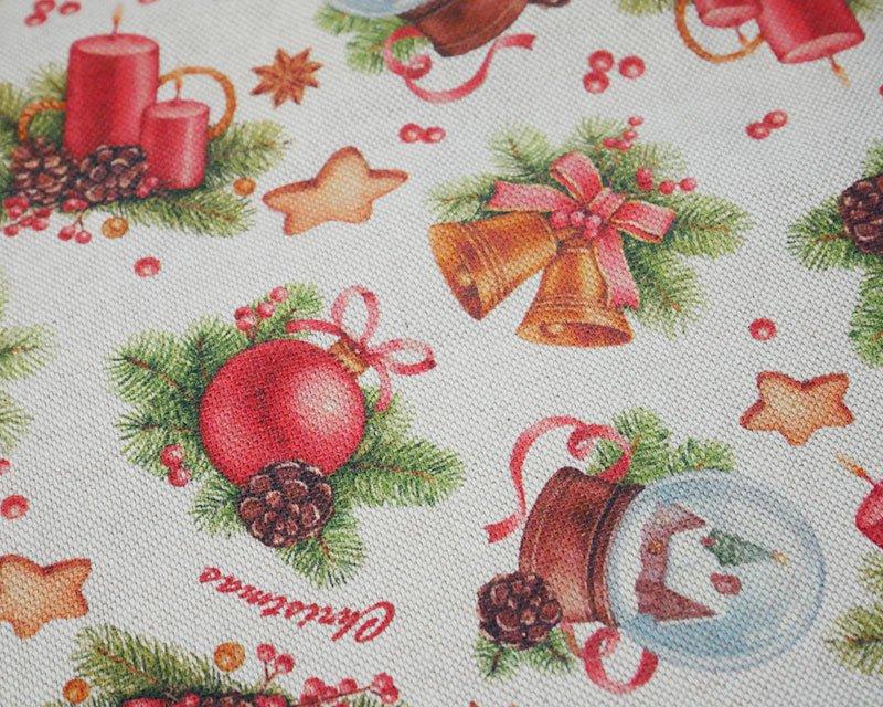 Premium Linen Look Canvas Christmas Bells