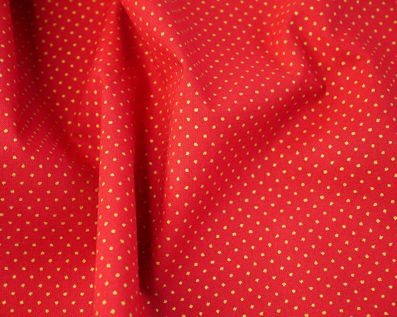 Christmas Metallic Pin Spot Cotton