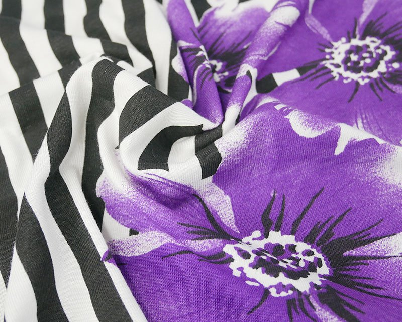 Stripe Floral Jersey