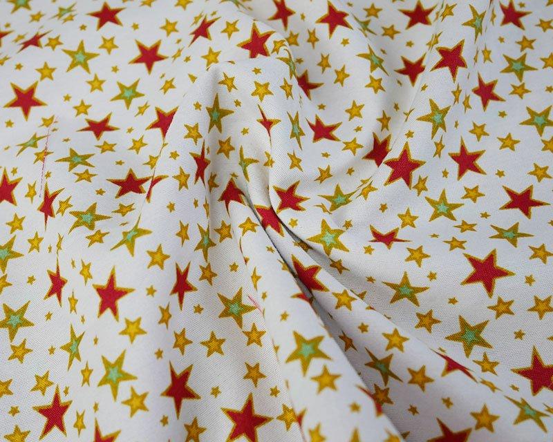 Xmas Multi Stars Peachskin
