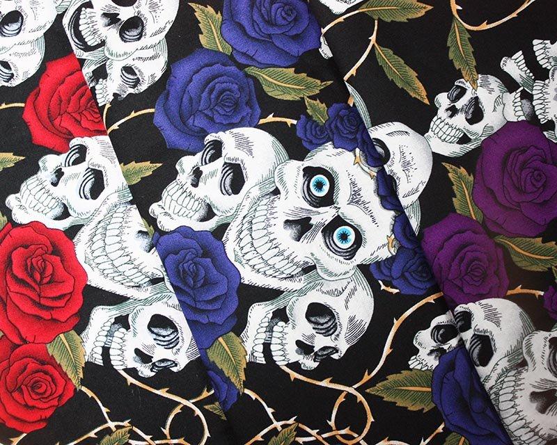 Skulls Roses Cotton