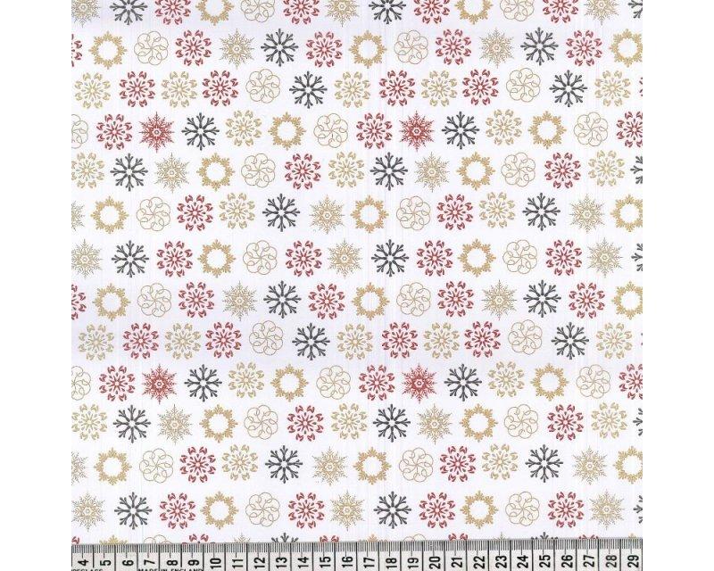 Christmas Multi Snowflakes Cotton