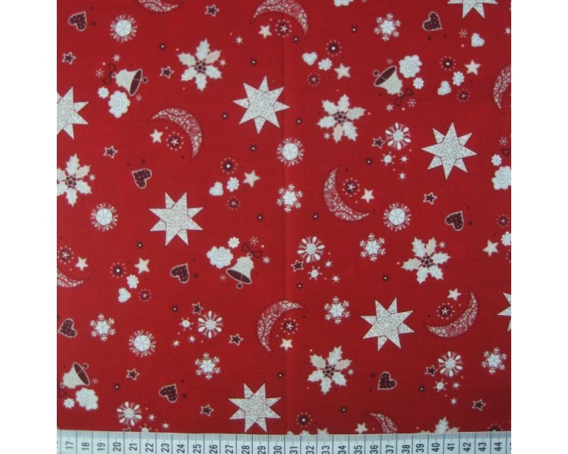Xmas Moon Stars Cotton