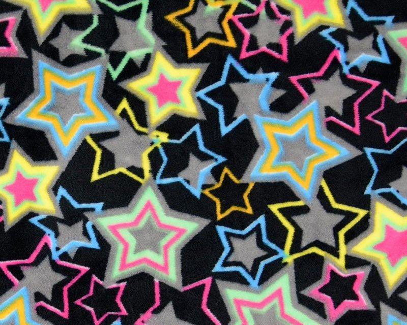 Neon Stars Super Soft Nicky Fleece